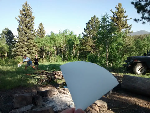 Flat Funnel getting some disc golf in at a course near Bellvue, Colorado.