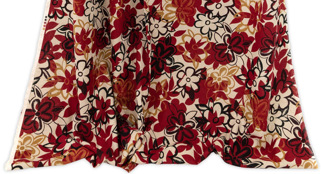 Designer fashion fabrics featuring botanical and floral motifs curated by Vogue Patterns fashion designer Marcy Tilton and sold as yardage.