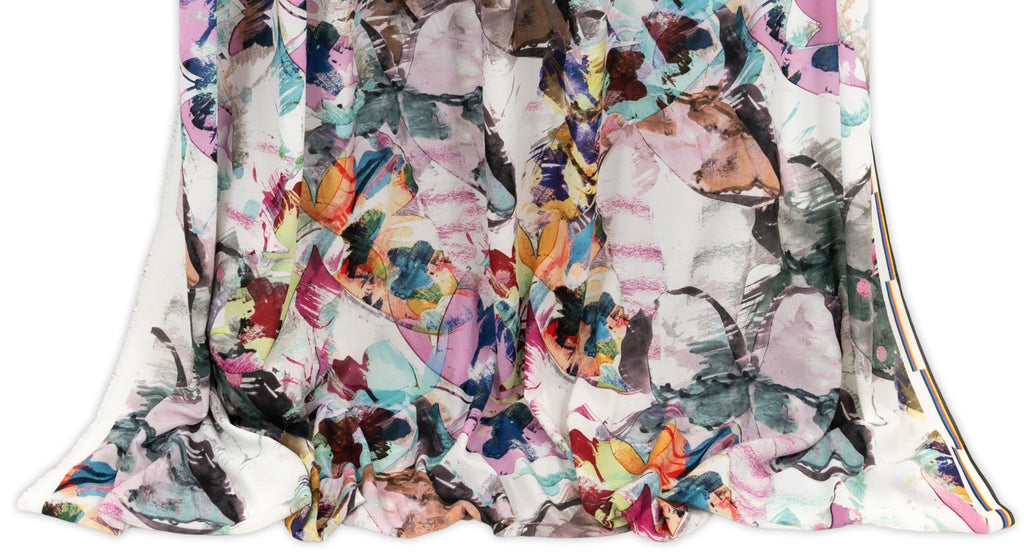 Woven fashion fabrics featuring designer prints sold as yardage in Marcy Tilton's online fabric store.