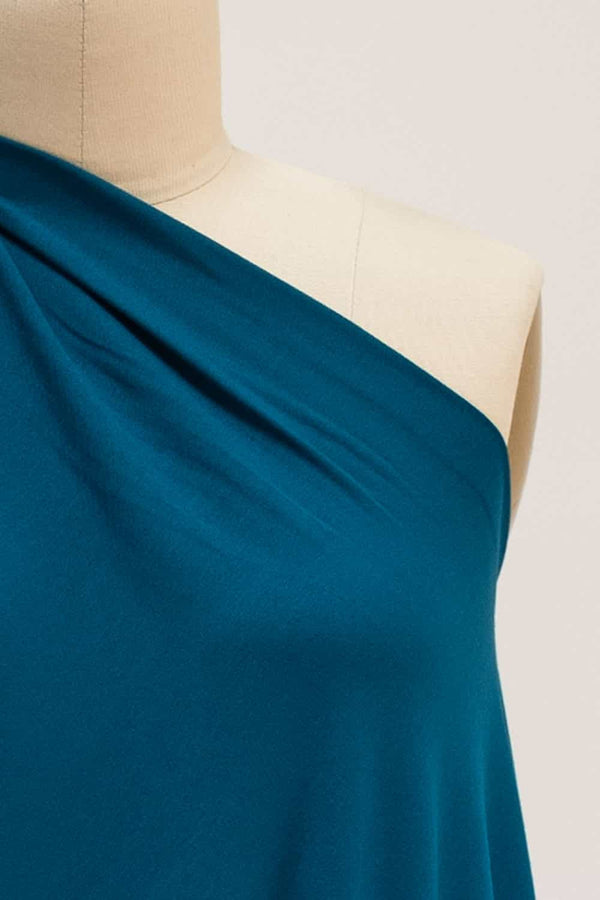 Aegean Blue Teal Viscose Knit