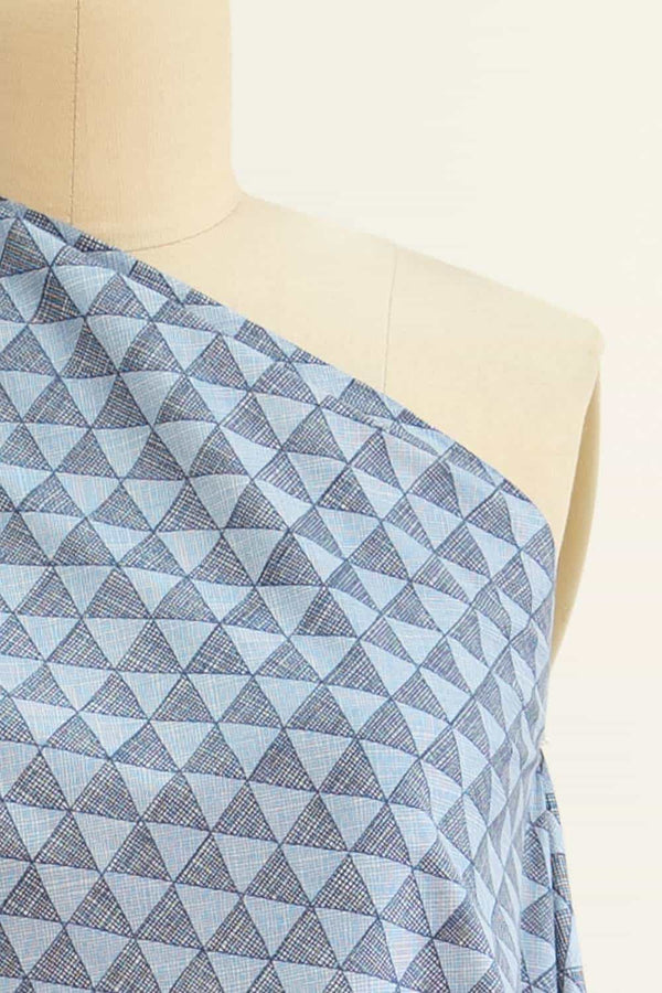 Angled Up In Blue Cotton Woven