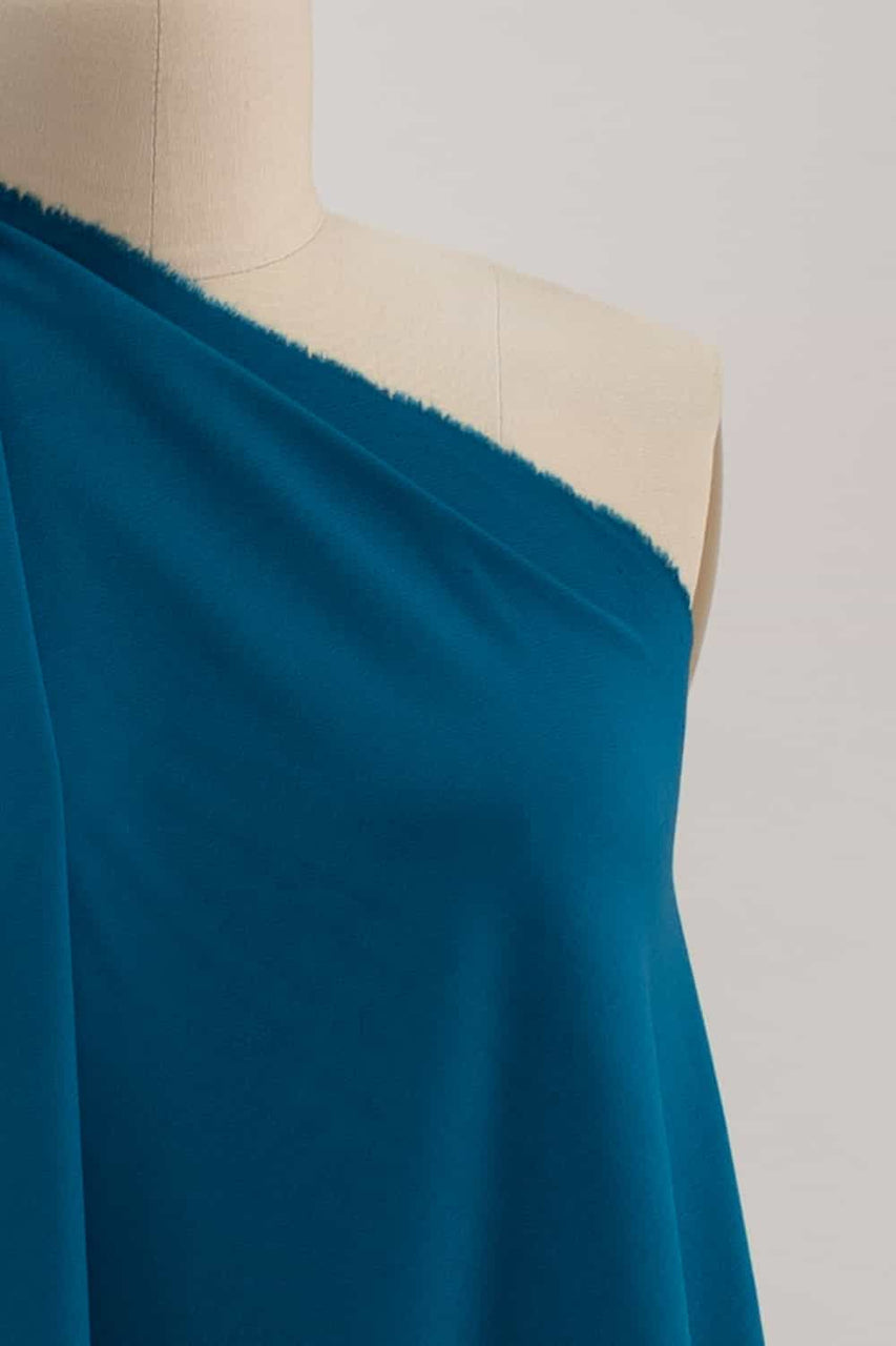 Astral Blue Teal Suprima Ponte Knit