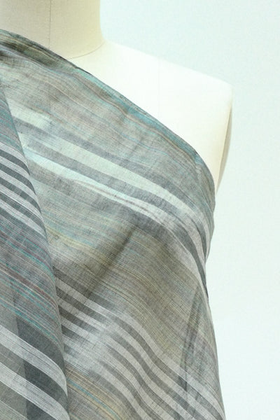 Beach Glass Sheer Cotton Ikat Woven