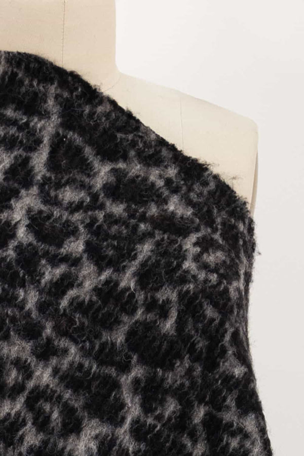 Black Panther Felted Wool Italian Knit