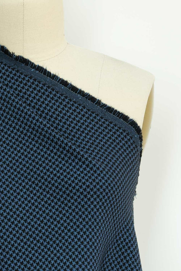 Blue Heeler Houndstooth Stretch Woven