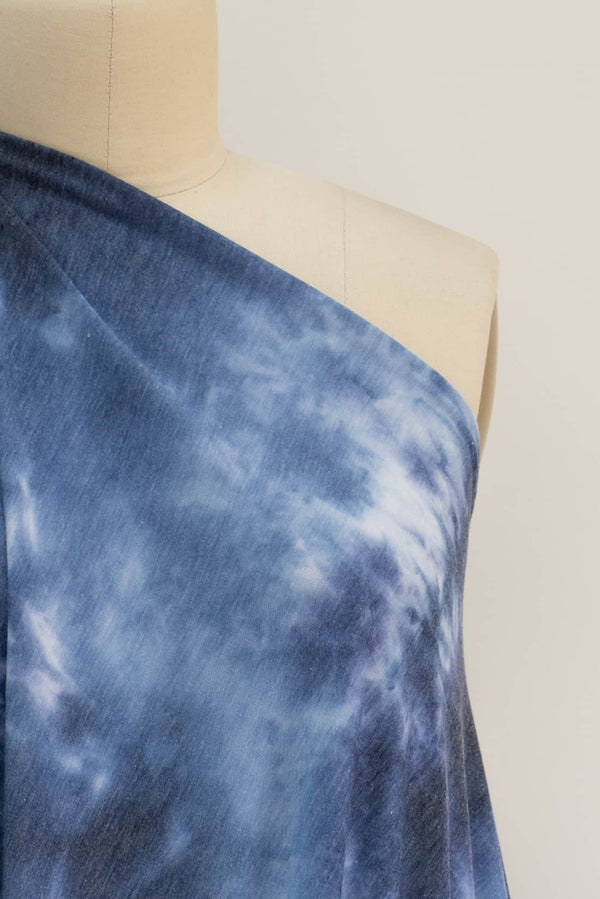 Blue Moment Shibori Japanese Cotton Woven