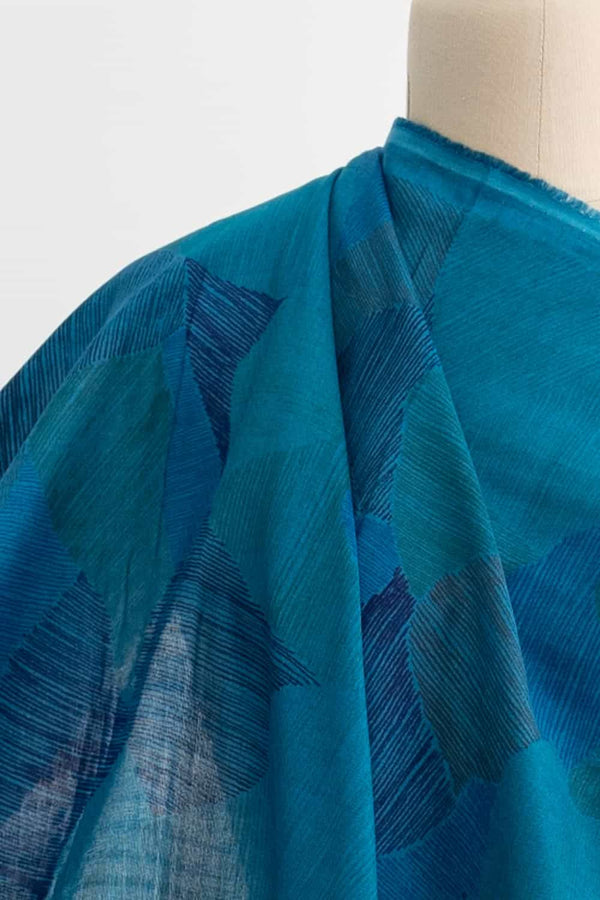 Blue Lake Japanese Cotton Double Gauze Woven
