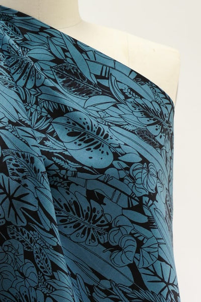 Blue Leaves Organic Cotton Woven
