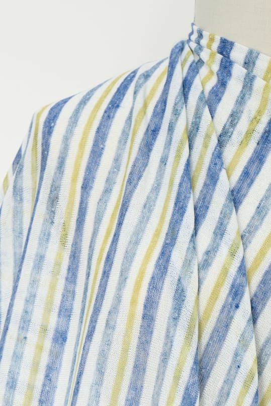 Blue Stripes Italian Linen Knit