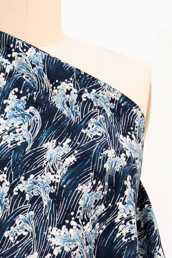 Blue Waves Japanese Cotton Woven