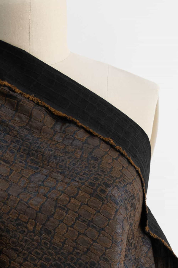 Bronze Croc French Jacquard Woven