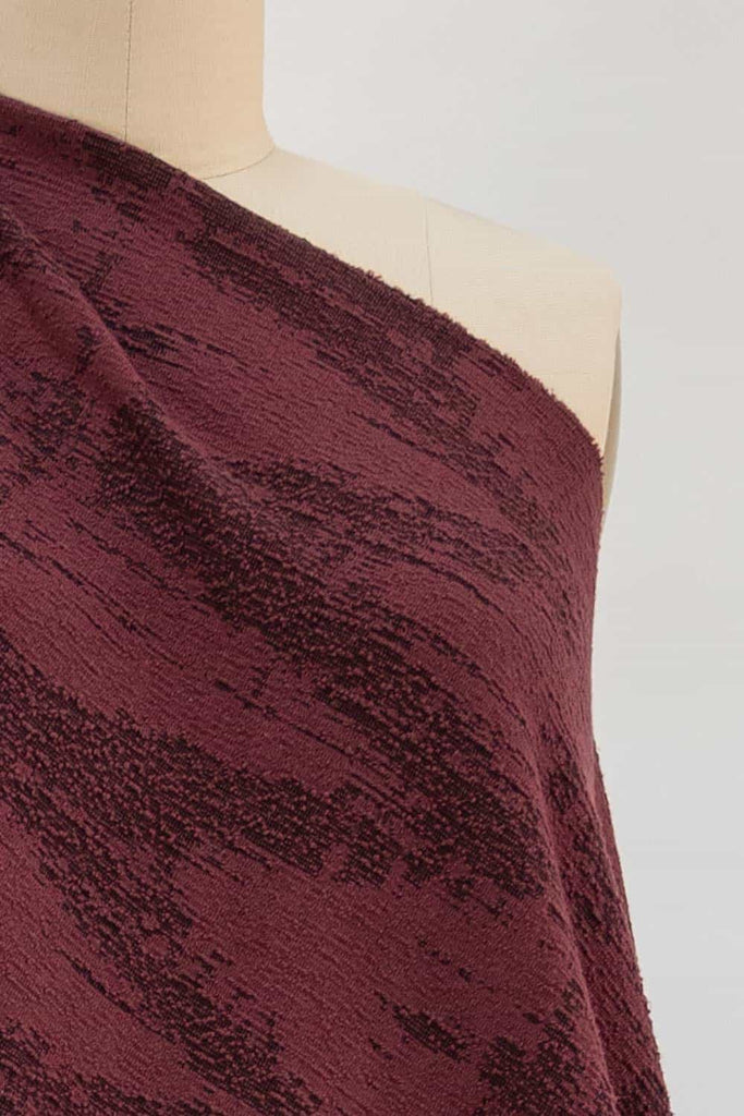 Burgundy Patina Ponte Knit