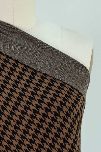 Camel Houndstooth Double Ponte