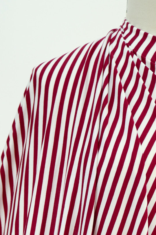 Candy Cane Bamboo Rayon/Spandex Knit