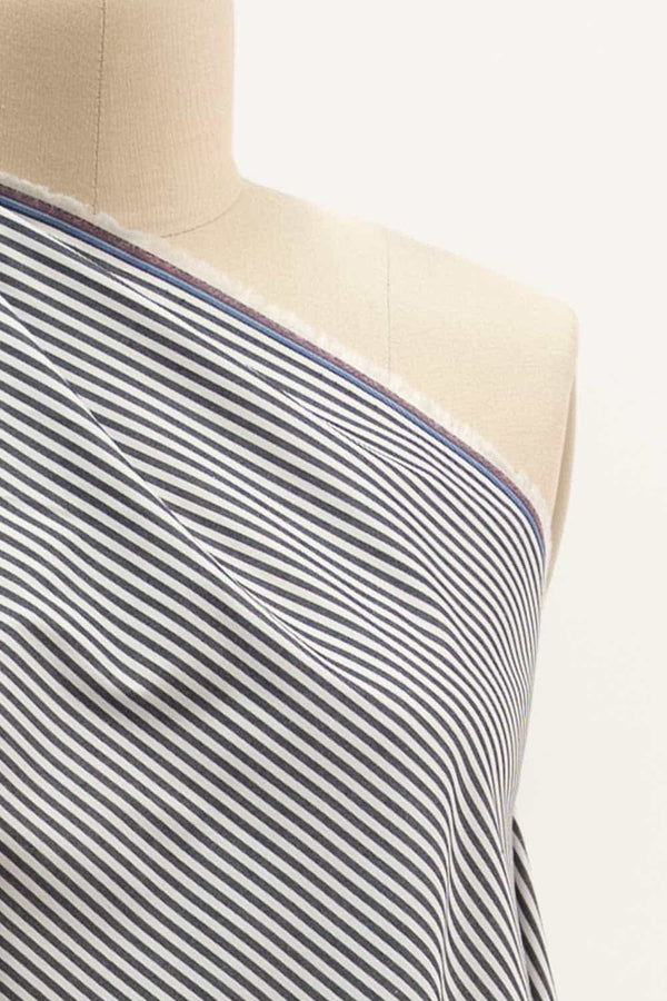 Yale Blue Stripe Cotton Woven