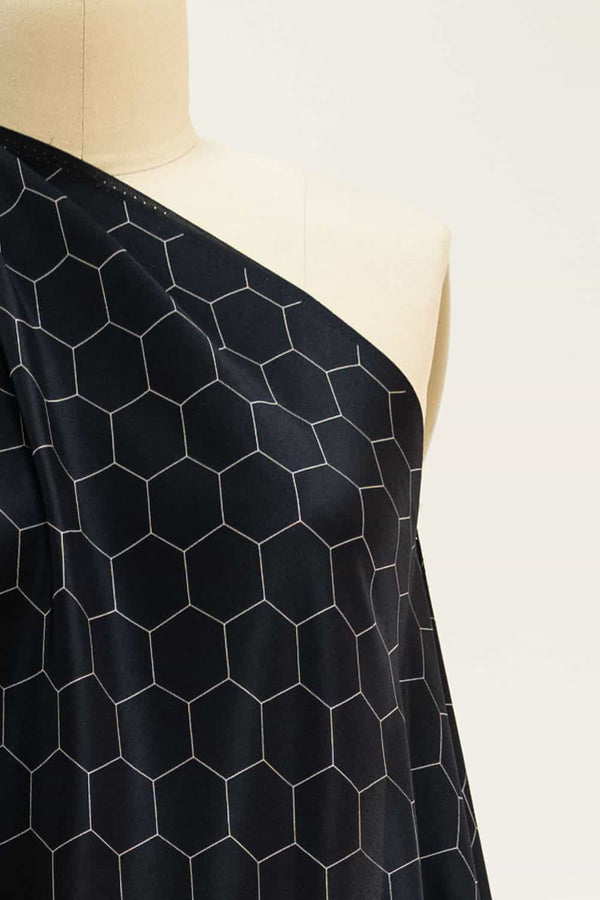 Chicken Wire Black Silk Woven