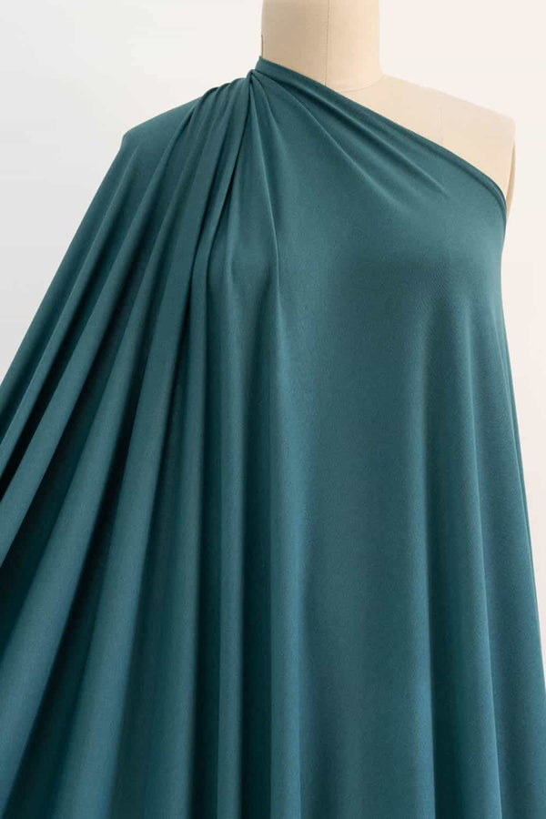 Cypress Avenue Teal Viscose/Wool Jersey
