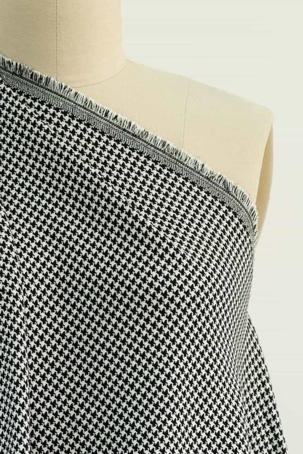 Dalmatian Houndstooth Stretch Woven