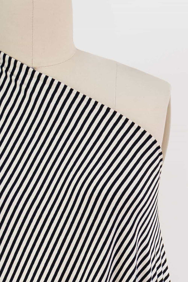 Elegant Ivory Stripe USA Knit