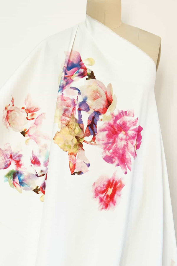 Floating Orchids French Suiting Woven