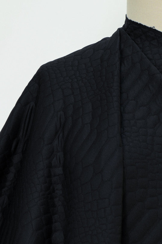 Forge Black Quilted Knit