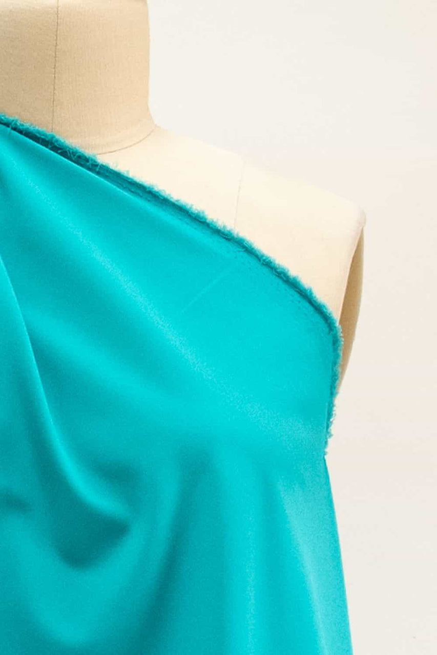 Fresh Turquoise Stretch Cotton