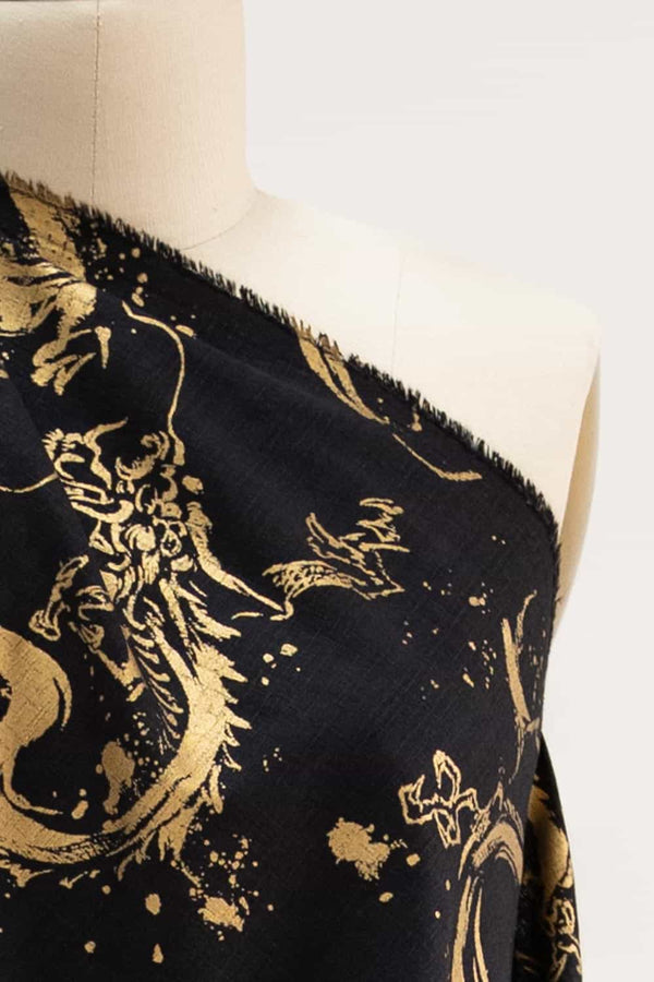 Golden Dragons Japanese Cotton Woven