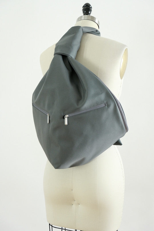 Groom Gray Large Microfiber Backpack