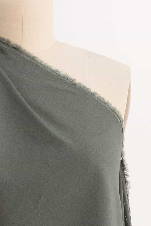 Green Clay Stretch Linen Woven