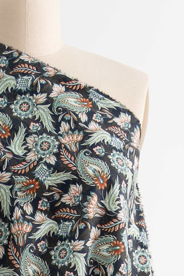 Green Thistle Stretch Cotton Woven
