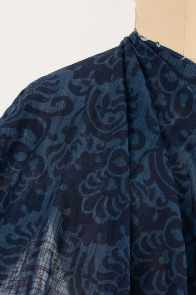 Indigo Baroque Indian Cotton