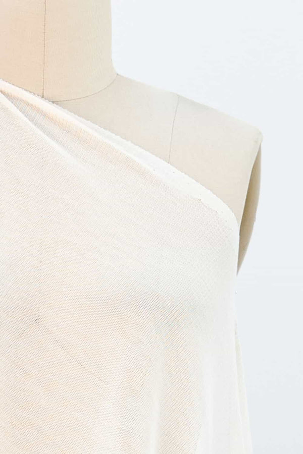 Ivory Cotton Mesh Knit