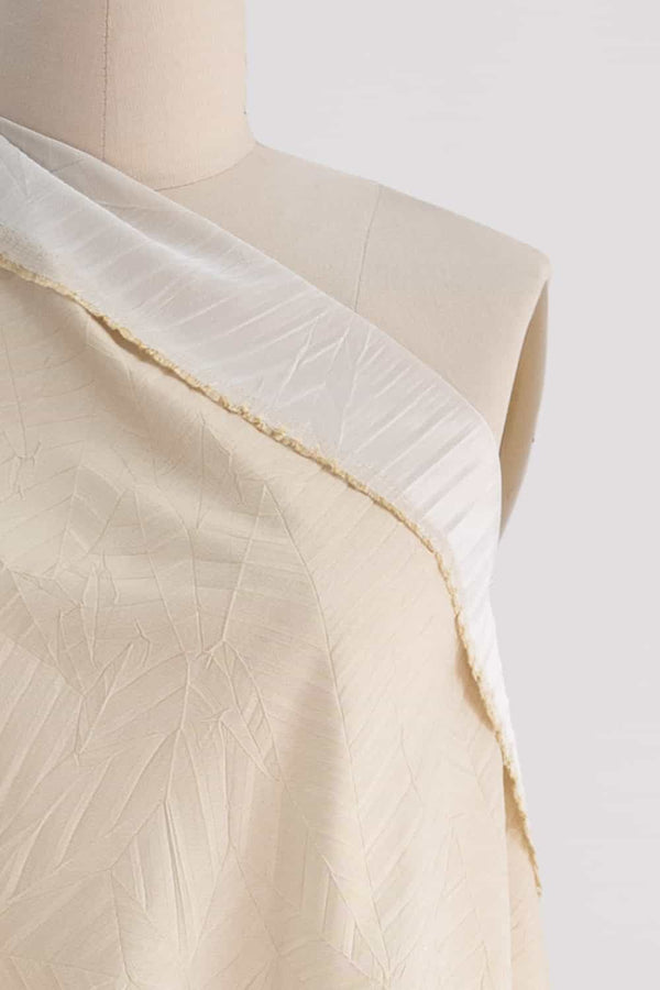 Ivory Pleated Woven