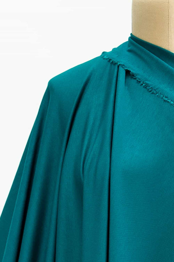 Jade Green Teal Lightweight Ponte Knit