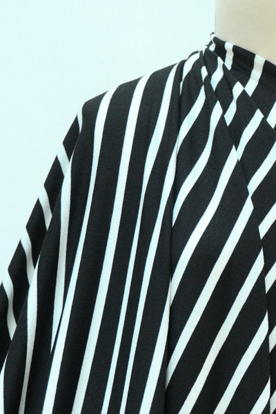 Jude Law Stripe Bamboo Rayon/Spandex Knit