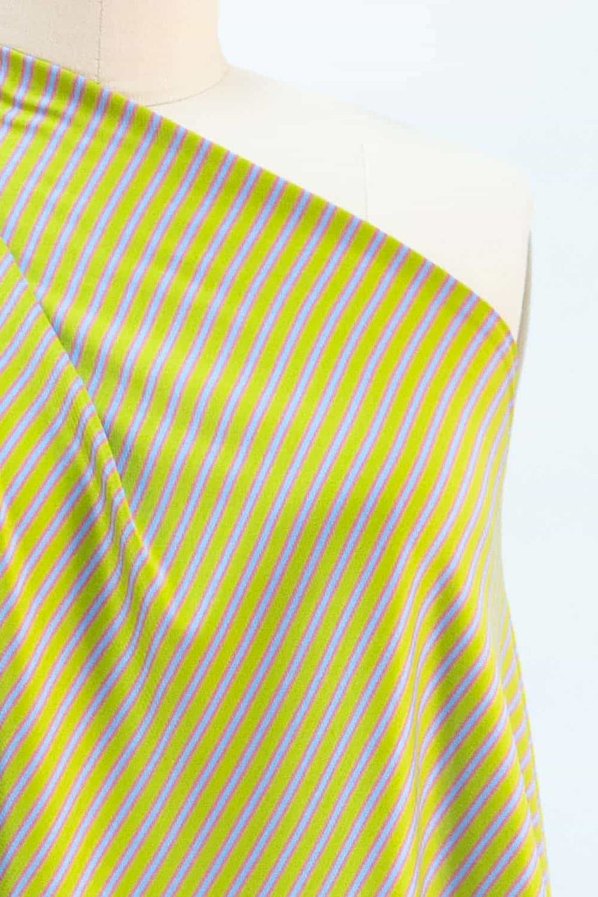Key Lime Stripe Japanese Cotton Knit