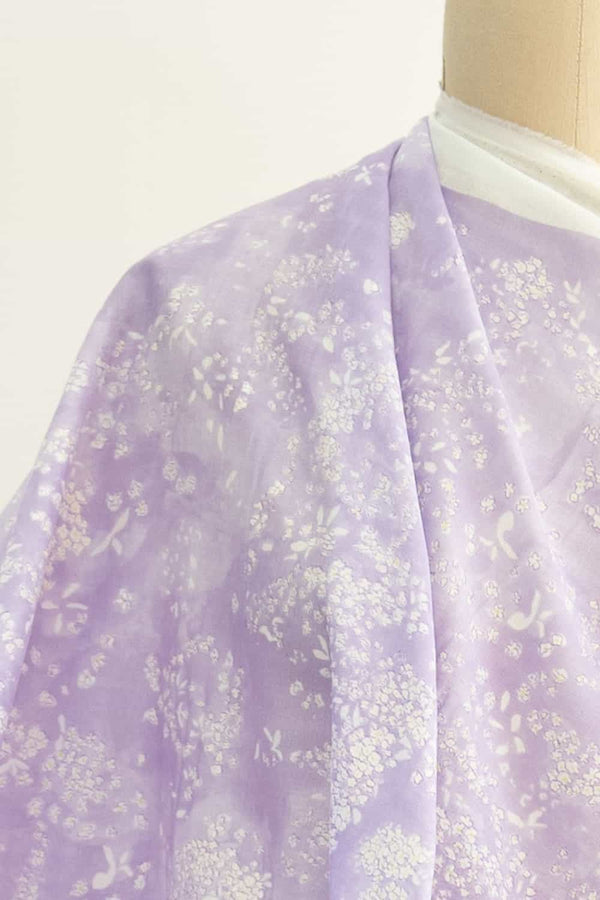 Lavender Fields Japanese Cotton Double Gauze Woven
