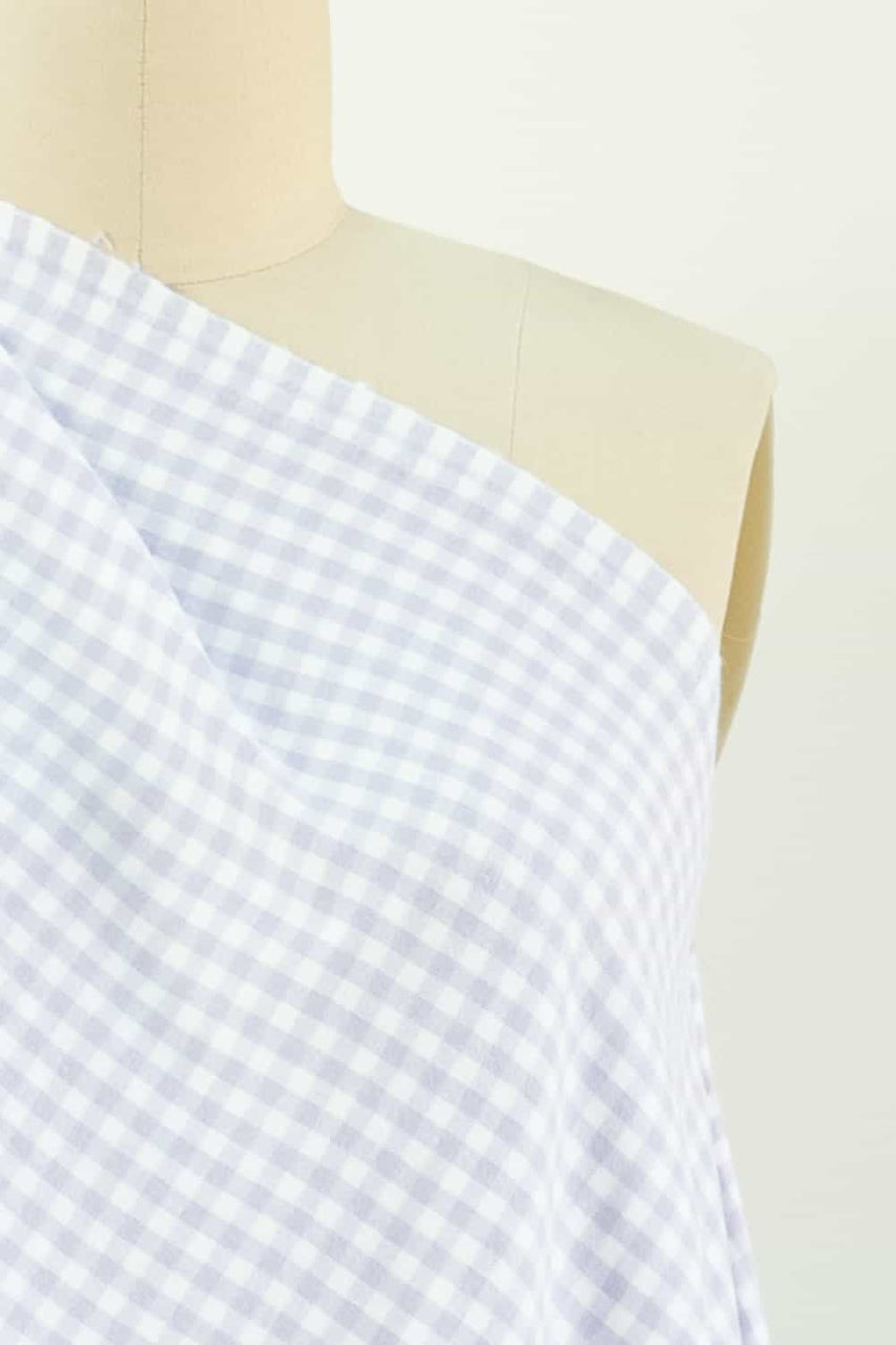 Lilac Gingham Checks Cotton Flannel Woven