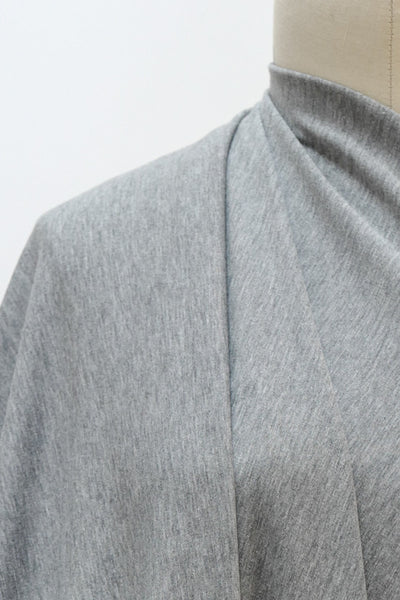 Luxe Light Gray Heather French Terry Cotton Knit