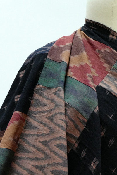 Madrone Cotton Patchwork Ikat Woven