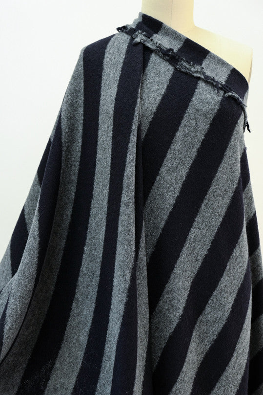 Manchester Stripe Wool Sweater Knit