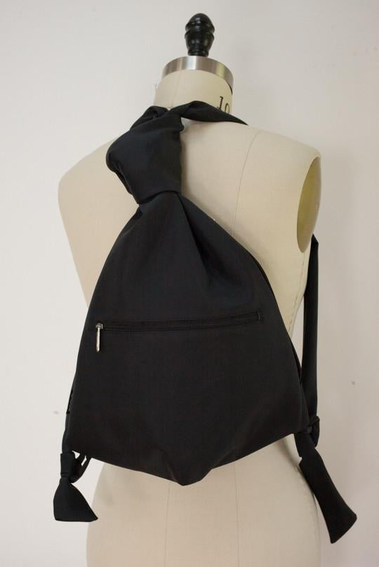 Groom Black Medium Microfiber Backpack