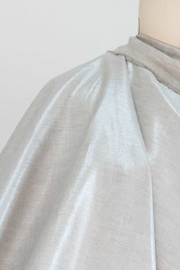 Mercury Lightweight Metallic Linen Woven