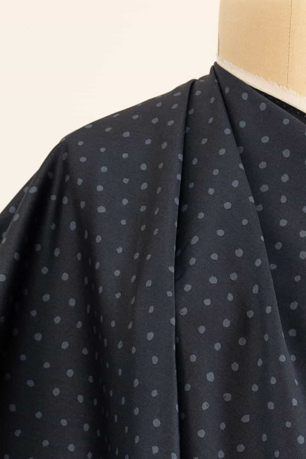 NIght Sky Dots Japanese Cotton Sateen Woven