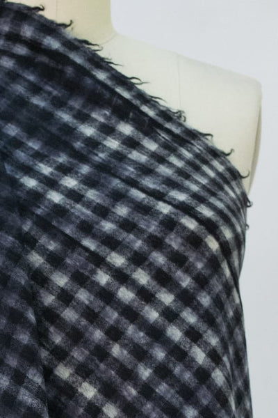 Painted Checks Wool Flannel Woven
