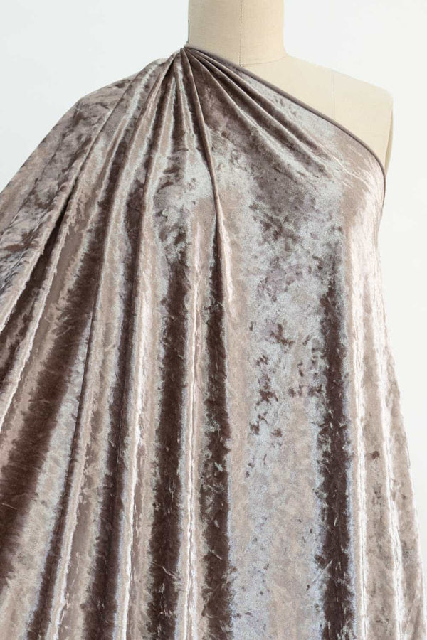 Pale Taupe Crushed Velvet Knit