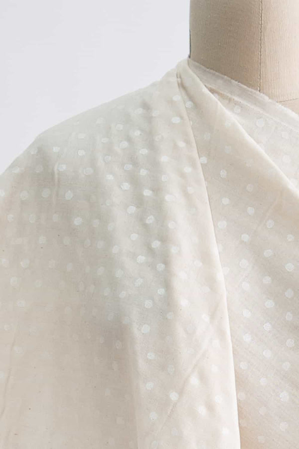 Pearly Dots Japanese Cotton Double Gauze Woven