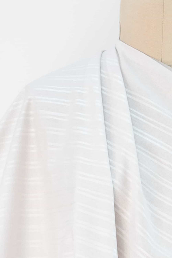 Pearl White Stripes Japanese Cotton Woven