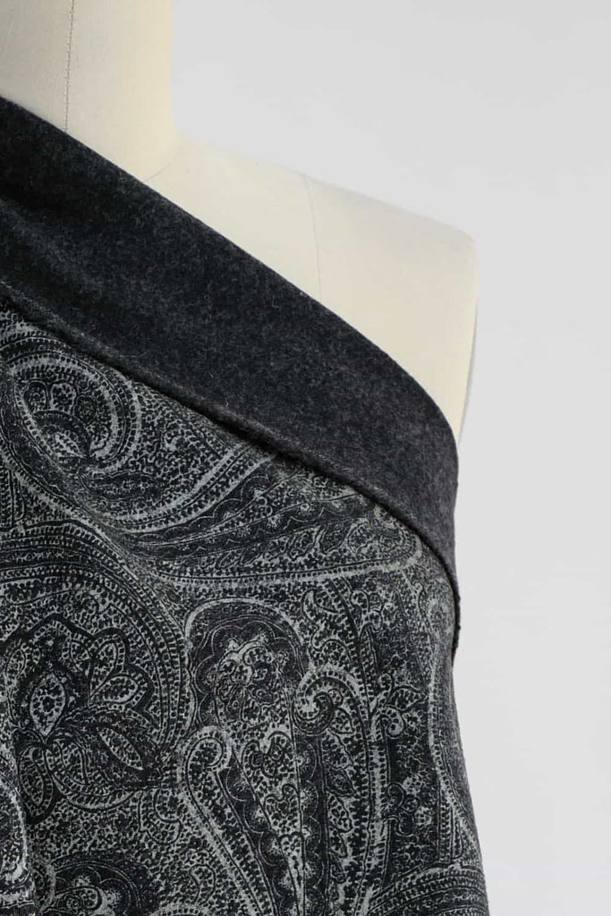 Pewter Paisley Wool Woven