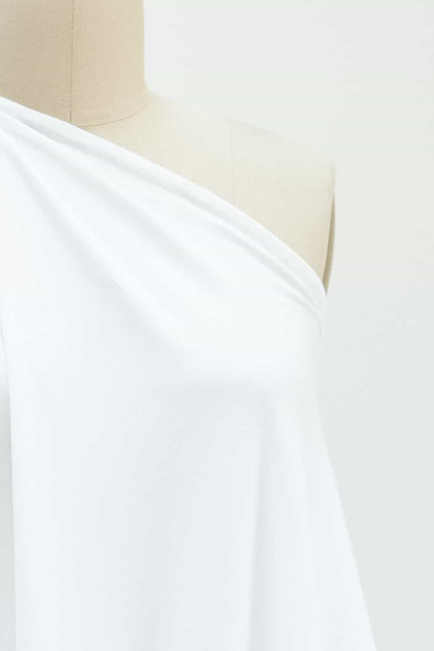Pure White Organic Cotton/Spandex Knit